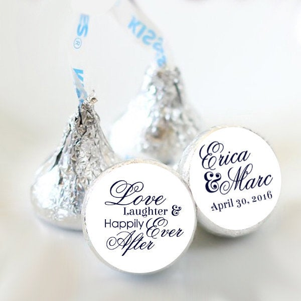 108 Love Laughter & Happily Ever After Hershey Kiss® Stickers - Wedding Kiss Candy Labels Favors