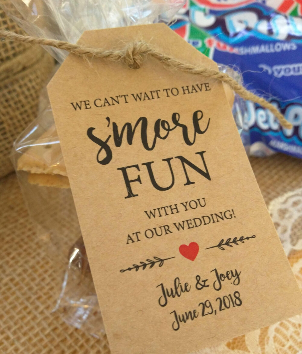Engagement Party Favors, S'more Fun Kit, Wedding Favor Tags, Fun, Kits, S'mores Tags - Can't Wait To Have Smore Fun