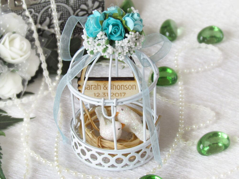 Wedding Favor Boxes, Birdcage Box, Shower Favors, Candy Boxes, Gift For Guests, Bird Cage Candle Holder, Personalized Tags