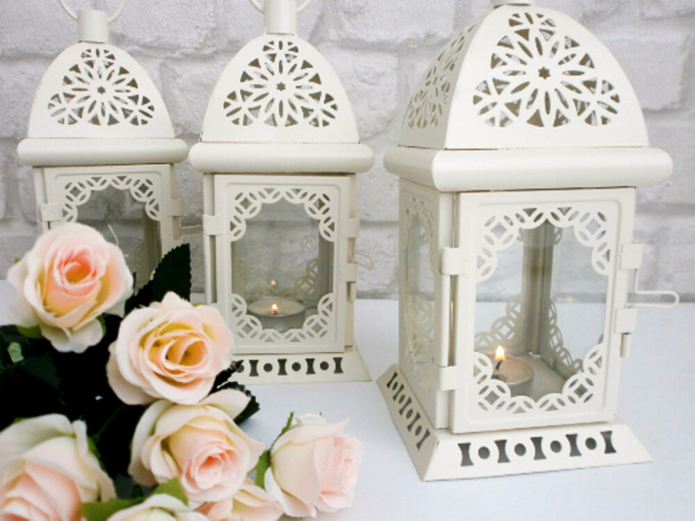 One Rustic Lantern, Moroccan Wedding Table Decor, Decoration