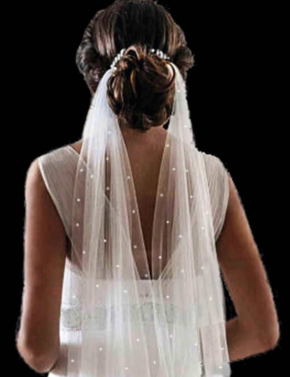 """144"""" Long Drape Tulle Veil, Cathedral Scattered Crystal Wedding Bridal Veil"""