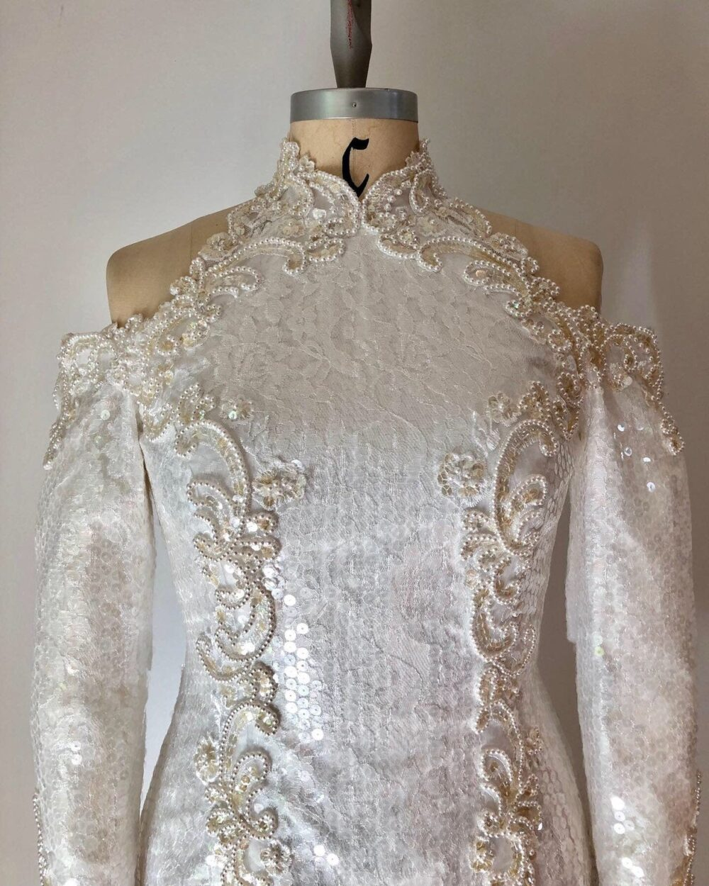 Exquisite Avant-Garde Vintage 1980's Demetrio's Wedding Gown, Dress, 80's Dress