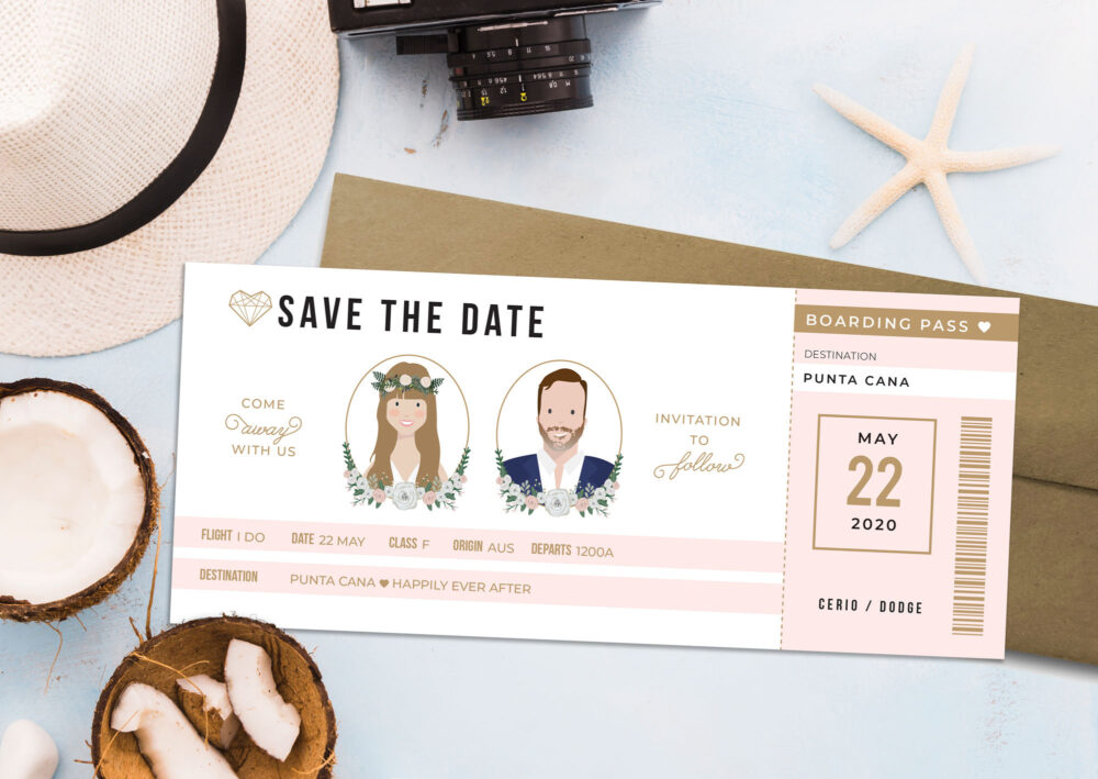 Boarding Pass Wedding Save The Date, Destination Invitations, Pass, Travel Theme Wedding, Airplane Invitation