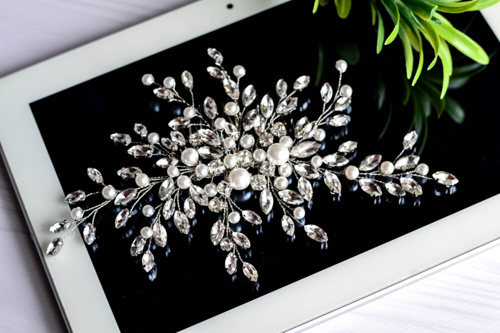 Crystal Rhinestone Hair Comb For Bride, Hairpin, Rhinestones Piece, Wedding Comb, Crystal Bridal