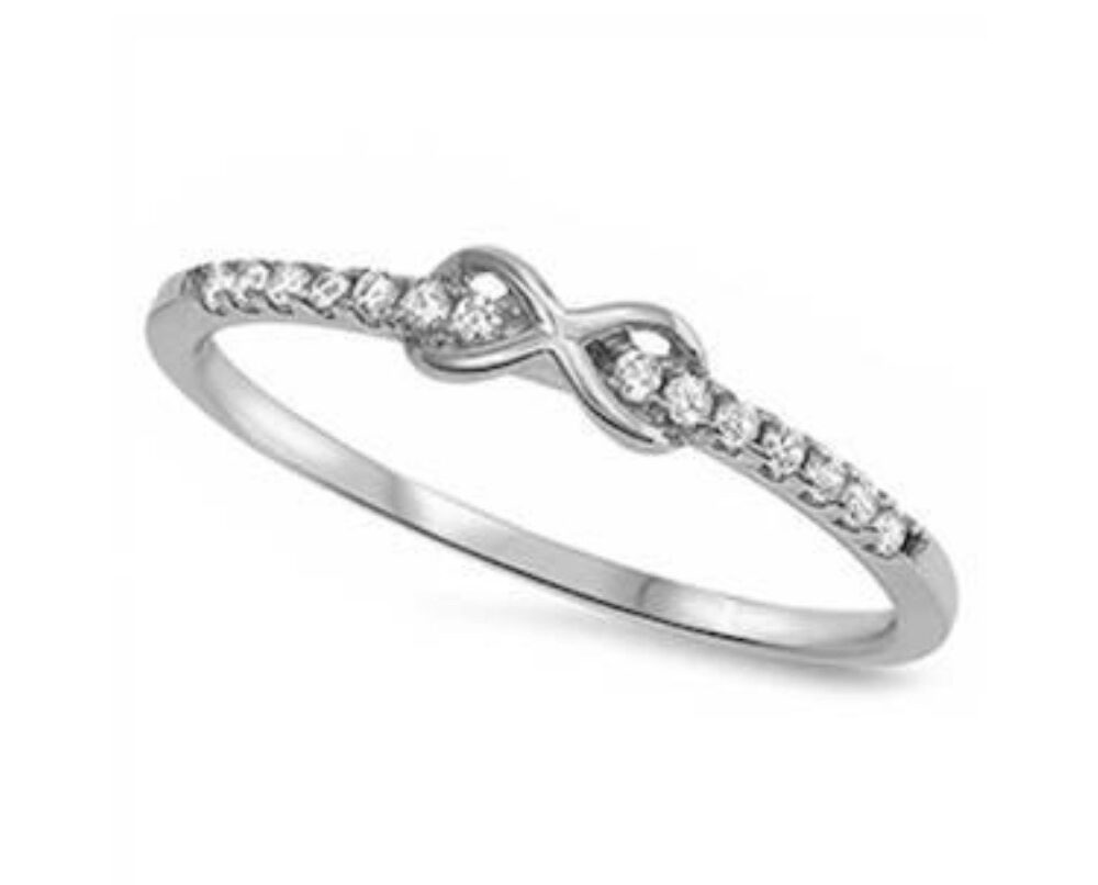 Infinity Steling Silverband Ring/ Promise Infinity Band Ring/ Sterling Silve Band Ring/925 Silver