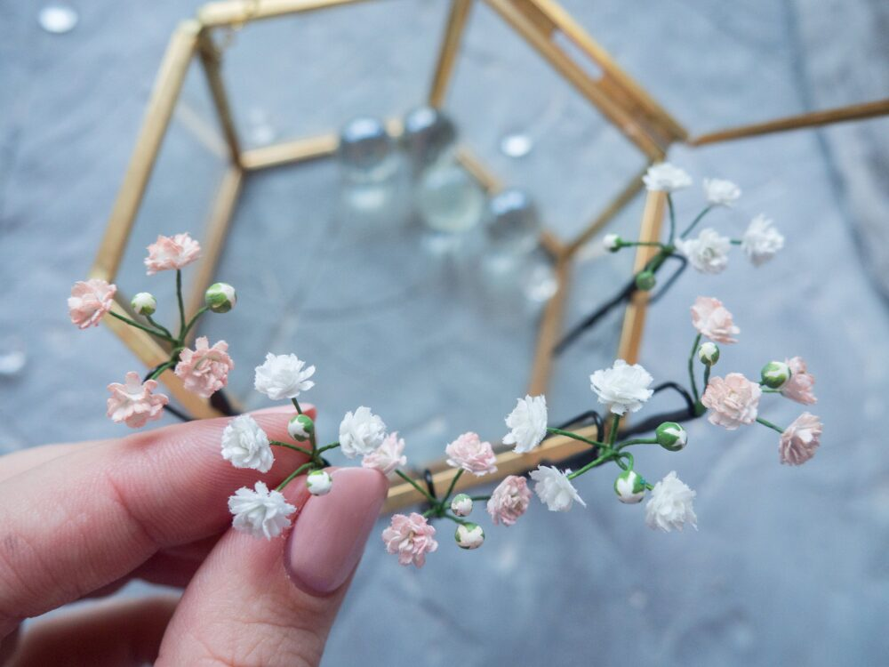 Wedding Baby Breath Flower Hair Bobby Pins