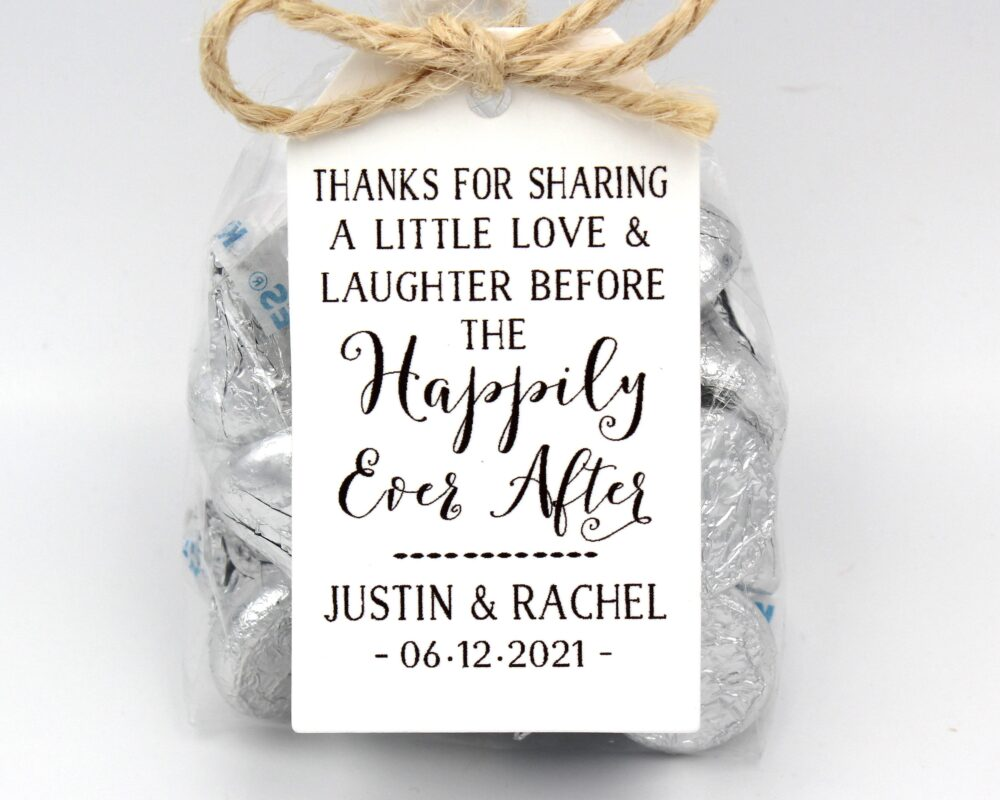 Rehearsal Dinner Favor Kit | Love Laughter Happily Ever After Wedding Favor Kits, Diy Idea-Choice Of 3 Tag Colors