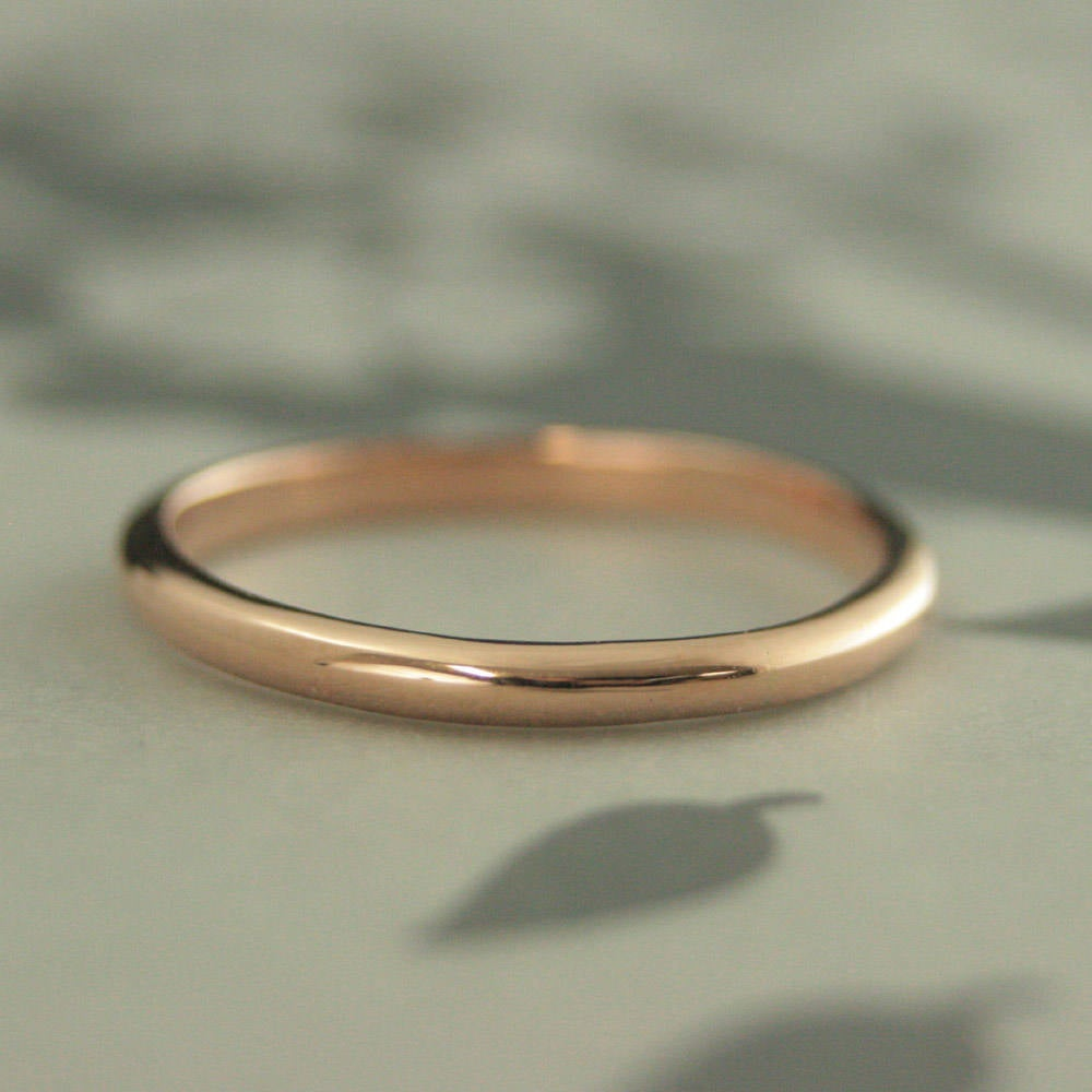 10K Wedding Ring Gold Band Women's Substantial 2mm Wide By 1.5mm Thick Affordable Women