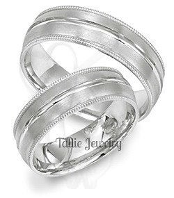 Platinum Matching Wedding Rings Set, His & Hers Bands, For Him, Her