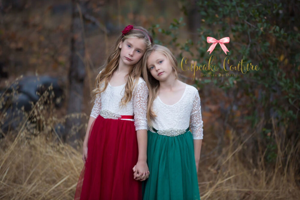 Santa Photo Outfit, Christmas Dress Girls, Holiday Party Dress, Toddler Red Tulle