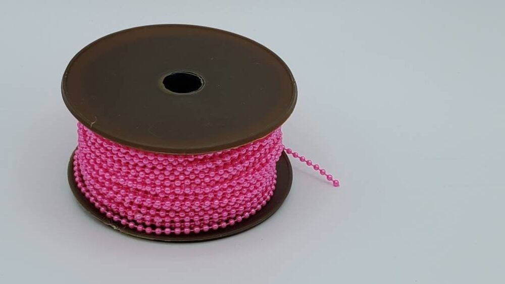 Pearl Garland Bright Pink 2.5mm Approx. 35 Yards