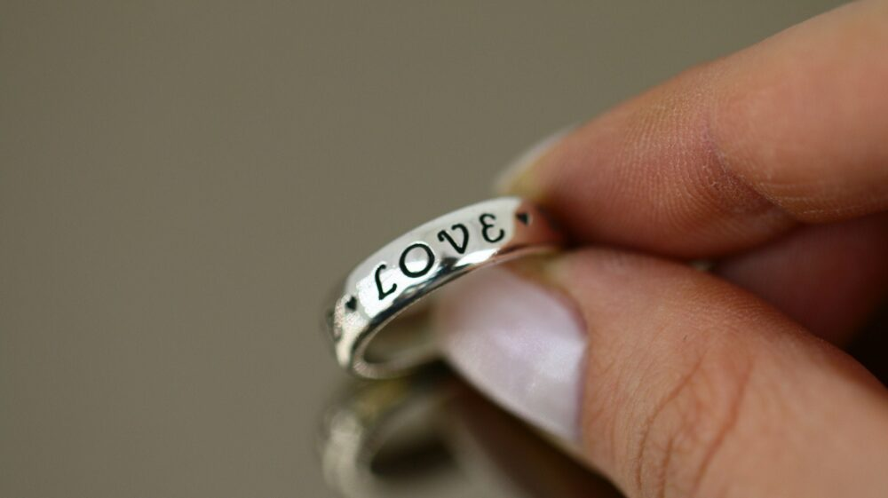Vintage True Love Waits Design Purity Band Ring 925 Sterling Silver Size 6 Rg 1924