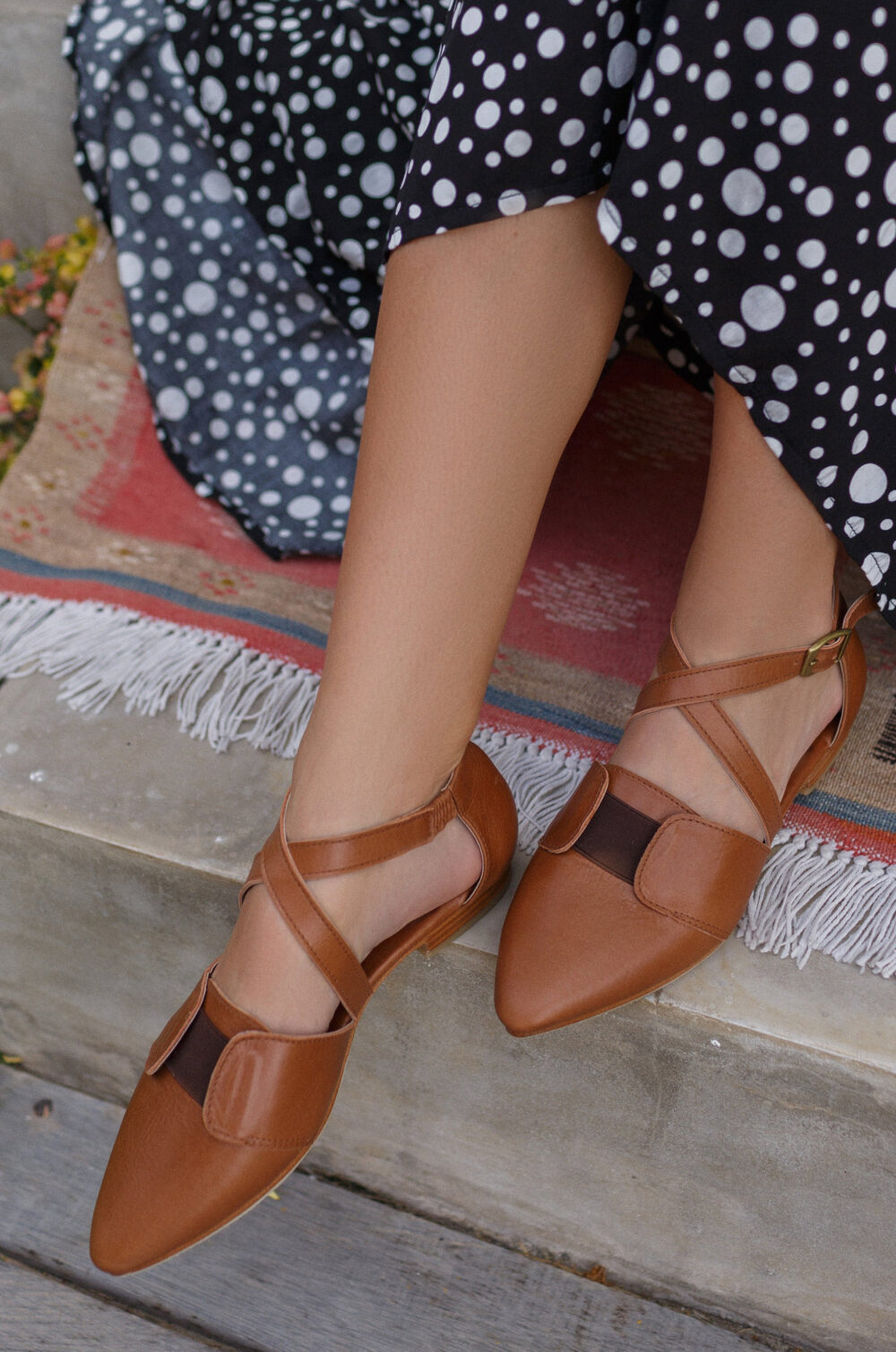 Italiana. Womens Flat Shoes/Womens Casual Leather Ballet Flats