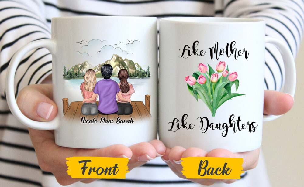 Like Mother Daughters Mug, Personalized Mom Mother's Day Gift, Mothers Birthday & Daughter Gift