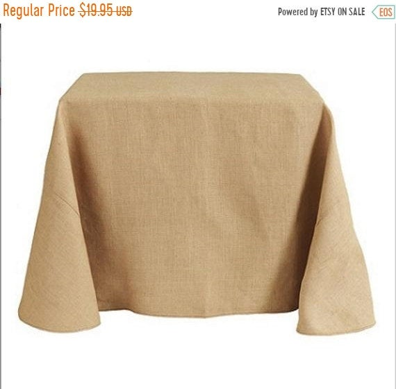On Sale 60x120 Inches Natural Rustic Burlap Table Linens Jute Rectangle Tablecloth For Wedding Event Decoration
