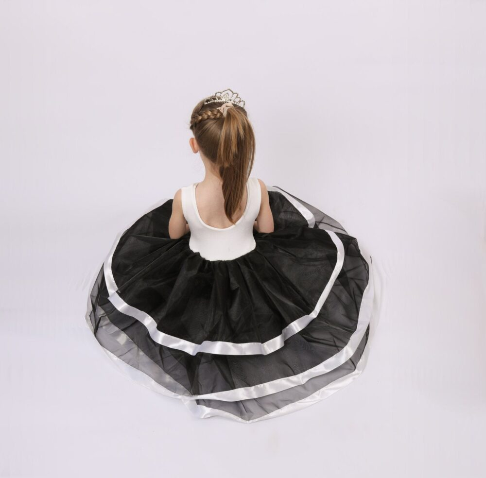 Black & White Flower Girl Dress, Girls Black Dress For Wedding, Black Tutu Special Occasion Dresses Baby, Toddler