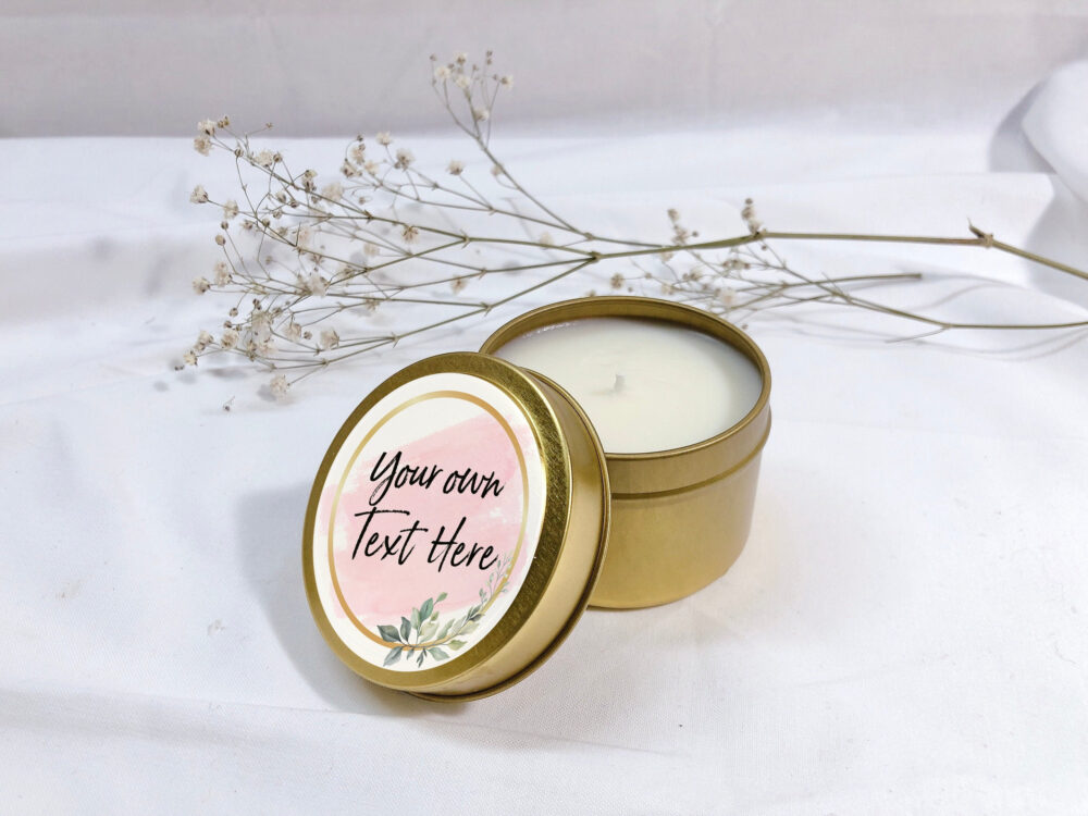 Custom Candle- Personalized Candle - Wedding Favor Candles Bridal Shower Favors Soy Candle Set