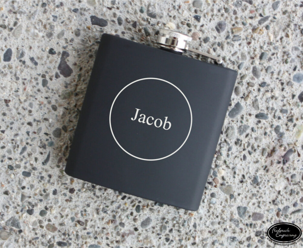 Engraved Flask, Personalized Custom Leather Flasks, Hip Wedding, Bachelor Party, Groomsmen, Bridesmaid, Fathers Day