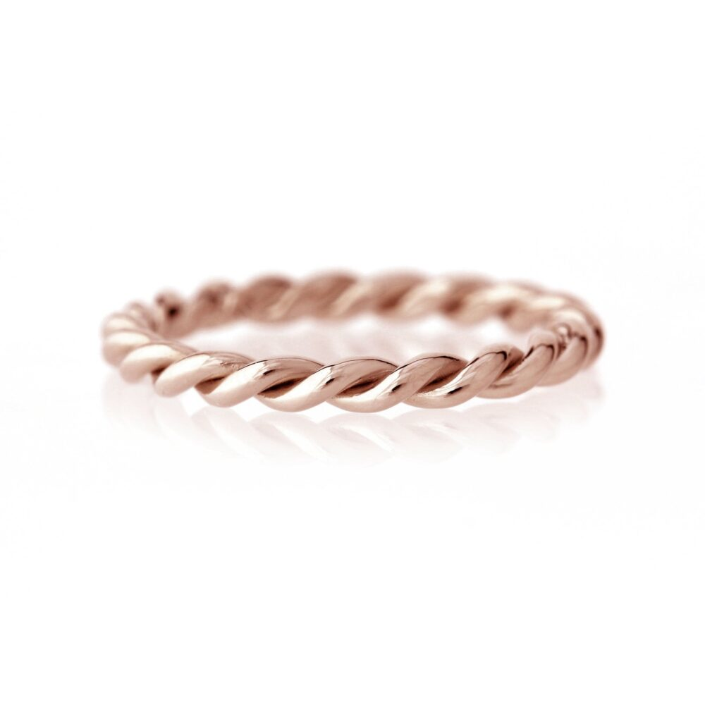 Twisted Rope Infinity Band Ring | 14K Or 18K Rose Gold Custom Wedding, Anniversary Band, Engagement, Promise Ring, Gift For Girlfriend