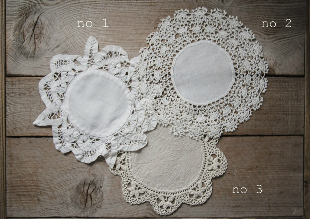 Antique Linen & Lace Doilies Collection, Farmhouse Decor, Crafting Sewing Supplies