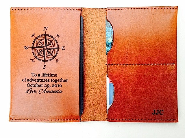 Couples Wedding Gift, Passport Keeper Holder, Wife Groom Gift From Bride, Lifetime Of Adventures Passport, Today Until Forever