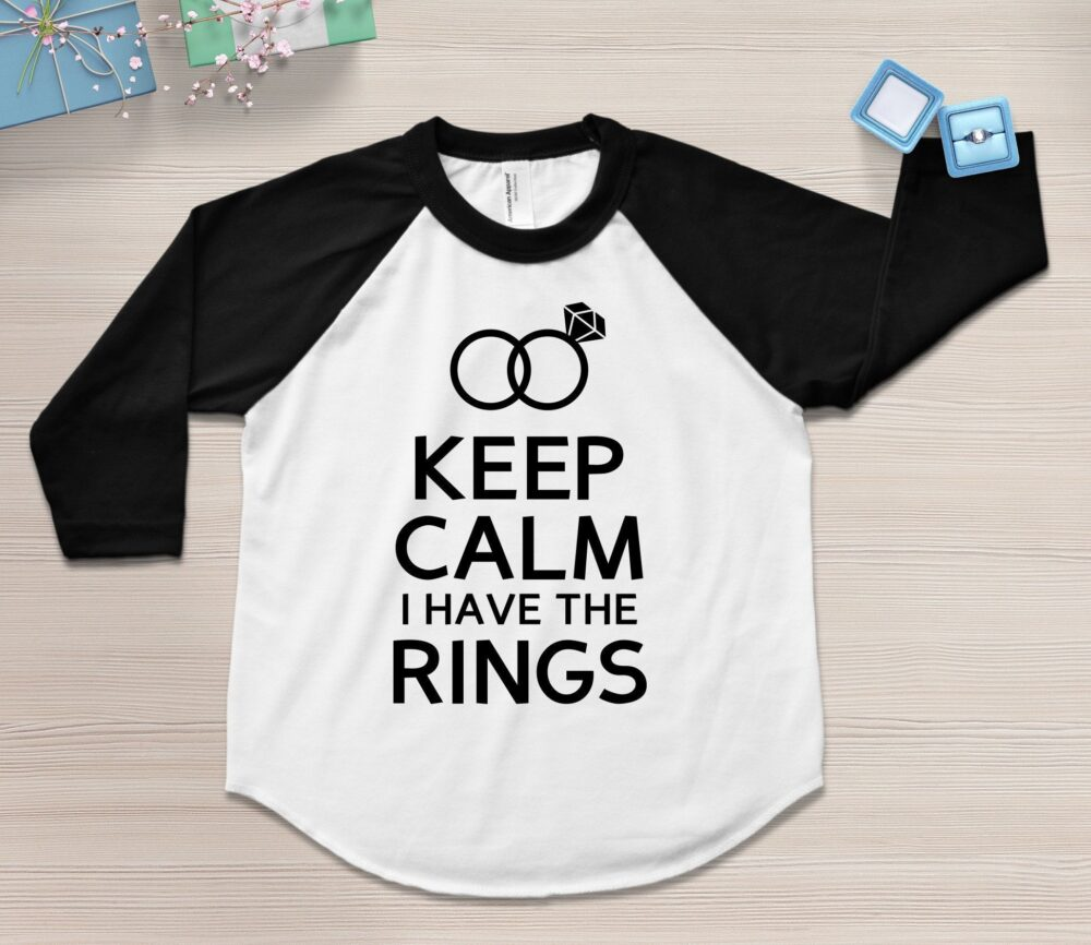 Ring Bearer Shirt, Outfit, Gift, Keep Calm I Have The Rings, Security Tshirt Wedding Party