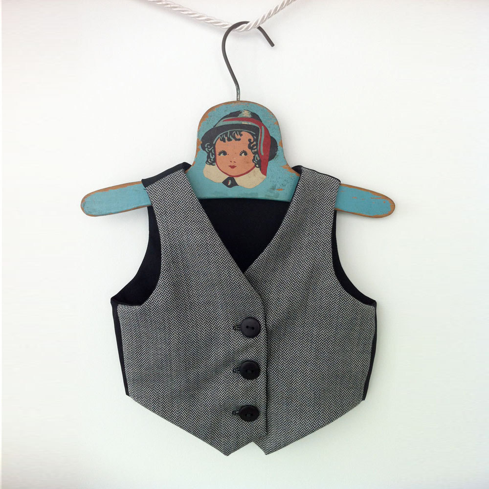 Sample Sale 20% Off   Boys Waistcoat, Grey Suit Vest, Ring Bearer Wedding Outfit, Baby Clothes, Toddler Boy Outfit