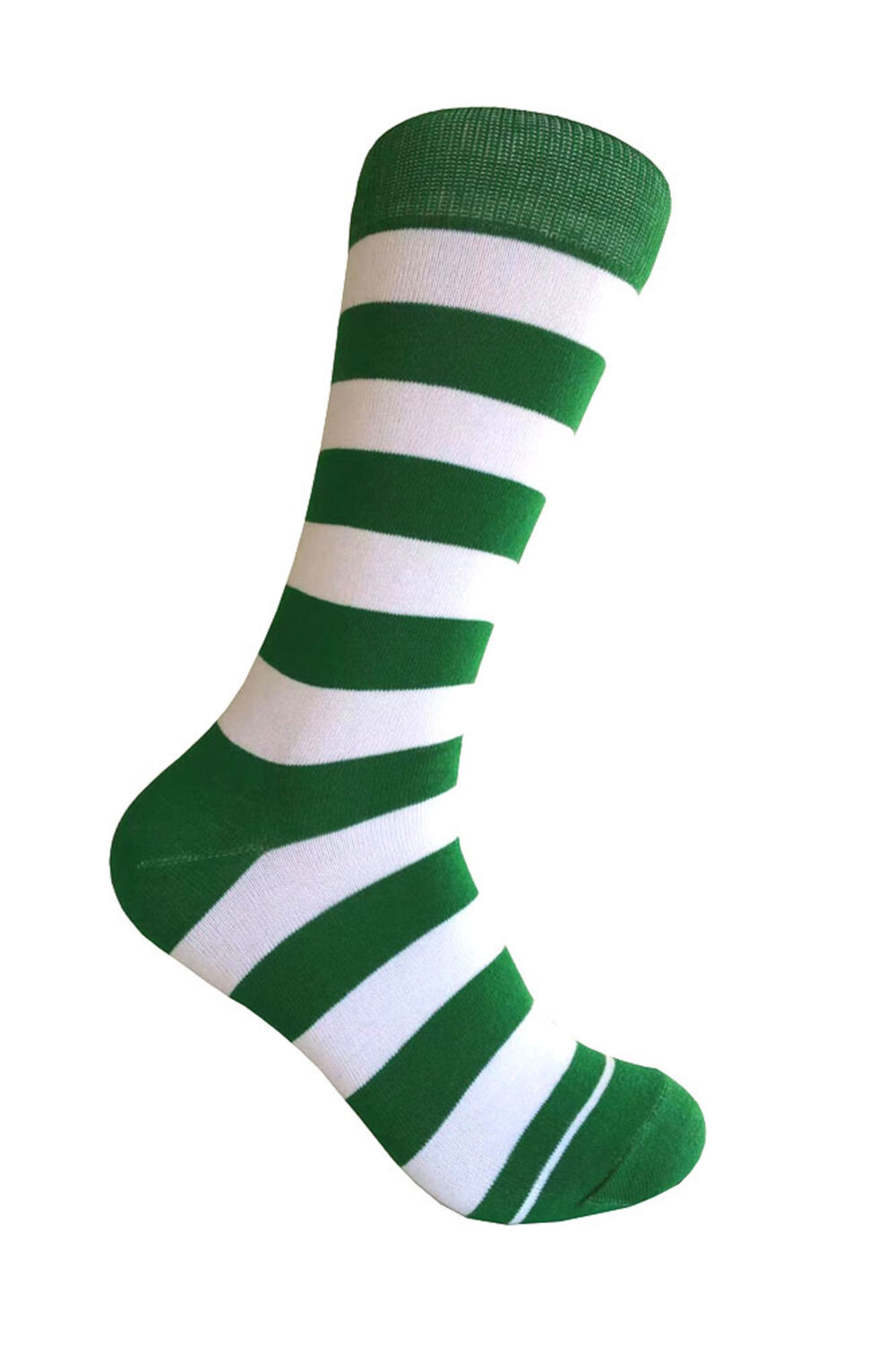 Novelty Men's Green With Multi-Colors Stripes Mid-Calf St. Patrick's Day Costume Cosplay Bachelor Party Wedding Groomsman Gift Dress Socks