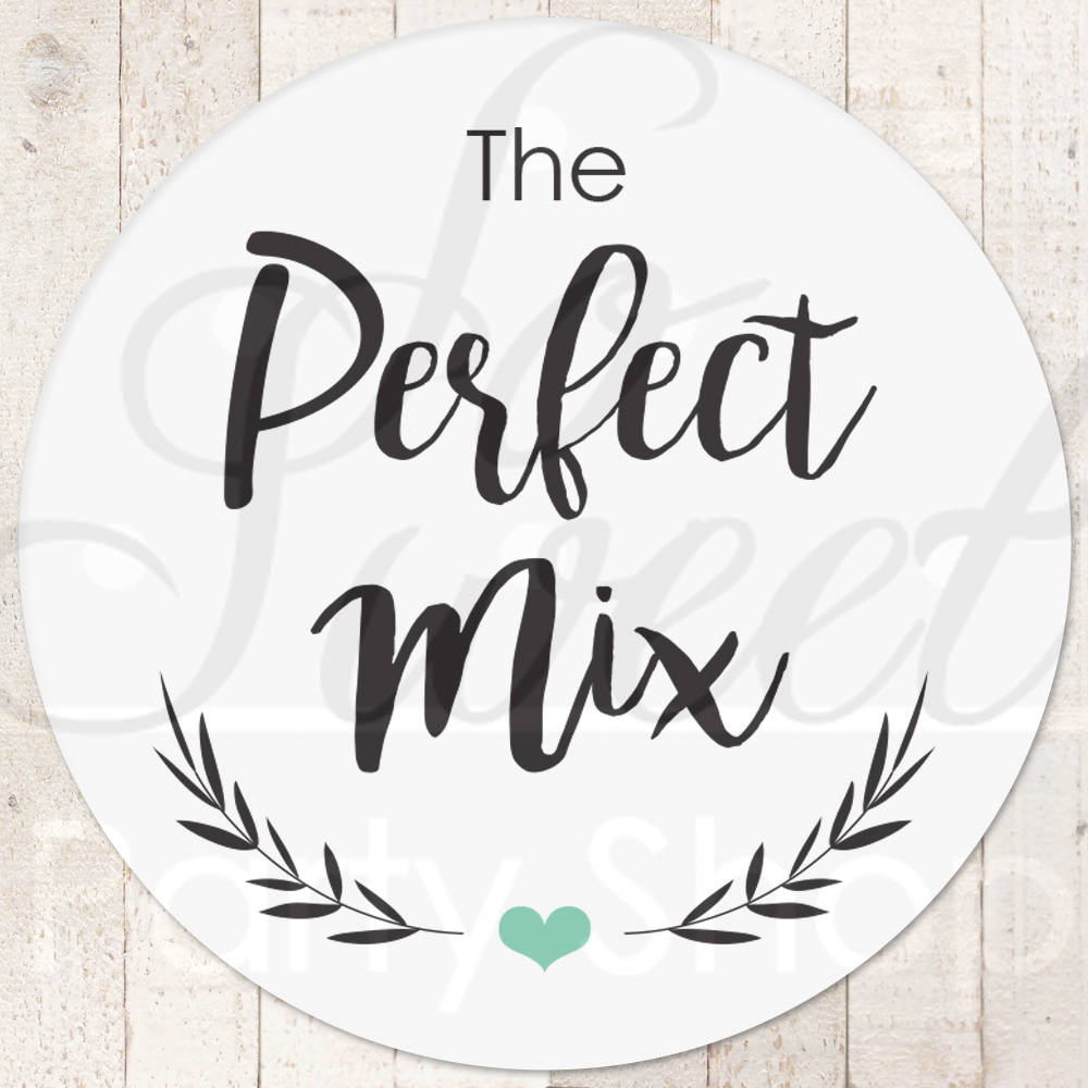Wedding Favor Stickers, Perfect Mix Labels, Treat Bag Sticker, Sweet & Salty, Favorite Snack Stickers - Set Of 24