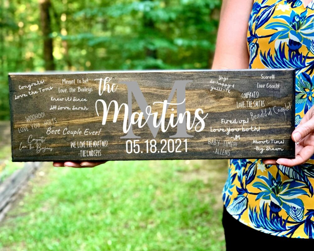 Wedding Wood Sign, Guest Book, Alternative Book Rustic