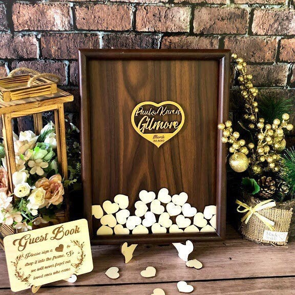 Rustic Wedding Guest Book Alternative, Wood Guestbook Wedding Wood, Sign, Unique