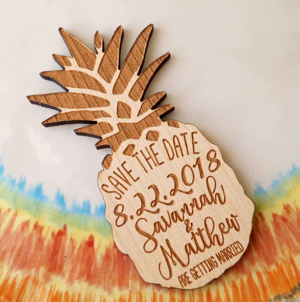 Pineapple Save The Date Magnet.save Date, Save Date Magnet, Rustic Wooden Dates, Pineapple Magnets, 25 Pc