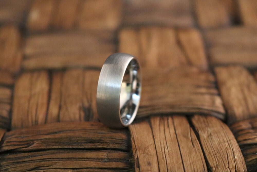 Brushed Wedding Band Tungsten Ring Classic Style Carbide