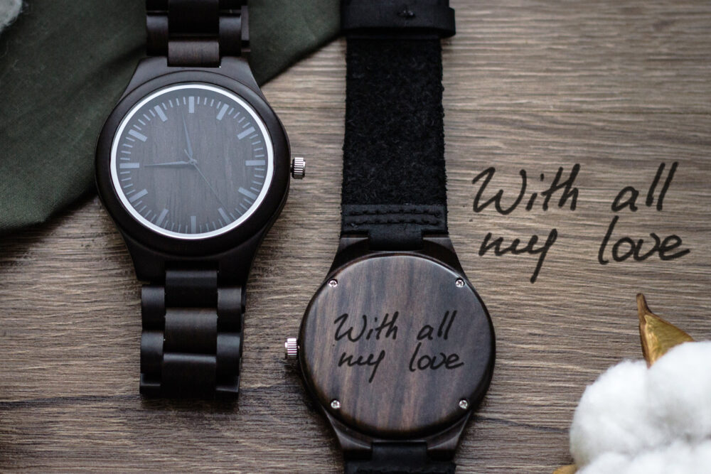 Engraved Wood Watch, Mens Watch , Dad Gifts, Wooden Watches For Men, Personalized Gift, Groom Husband Gift, Wedding Favor