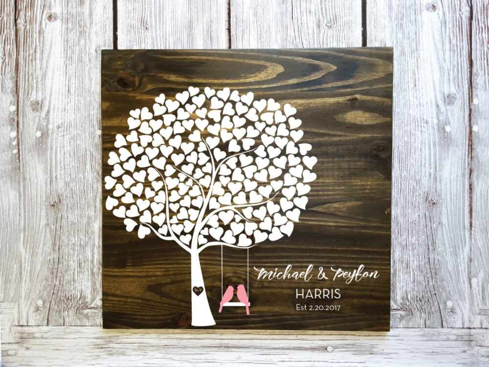 Leaf Guest Book Tree, Tree Book, Wedding Alternative, Shower Gift