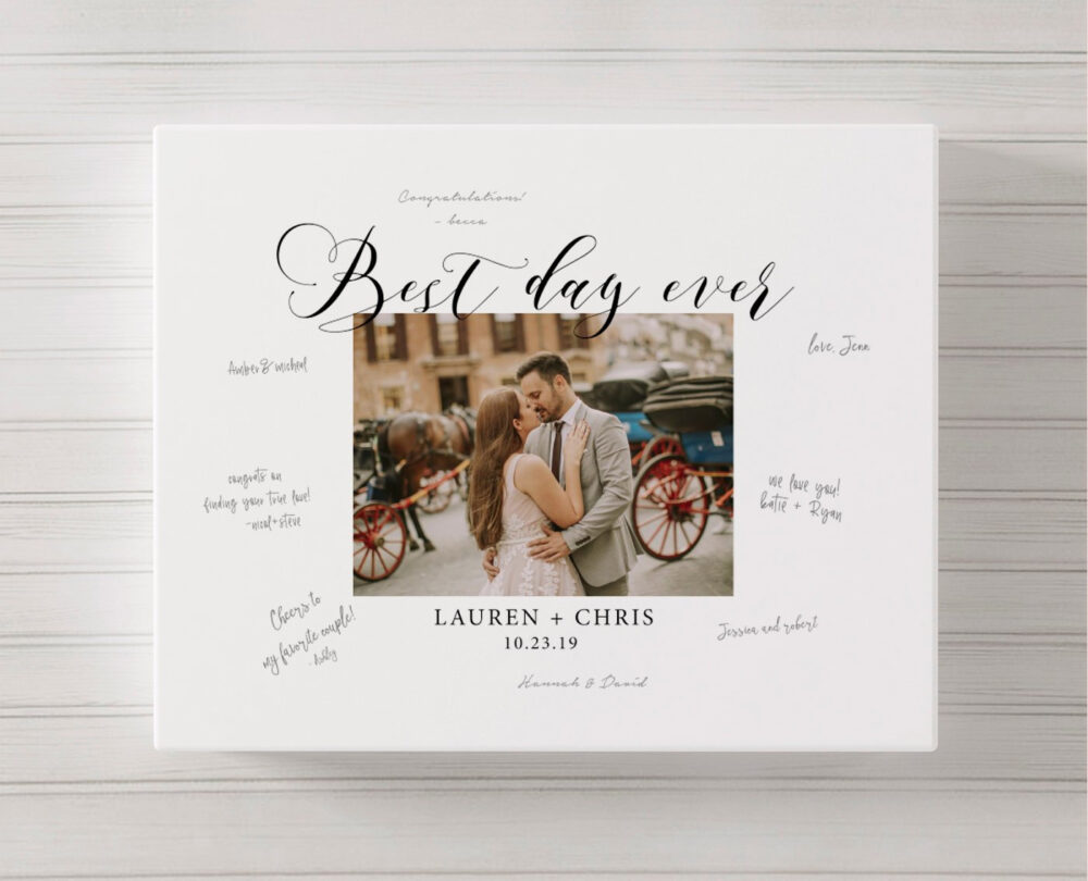 Photo Wedding Guest Book Canvas, Rustic Alternative, Ideas, Canvas Guestbook, Picture Guestbook