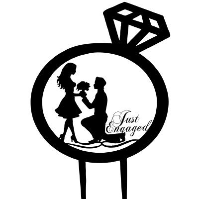 Just Engaged Cake Topper-1, Engagement Party Decorations, Bridesmaid Gift , Cake Topper , Engaged Topper, Wedding