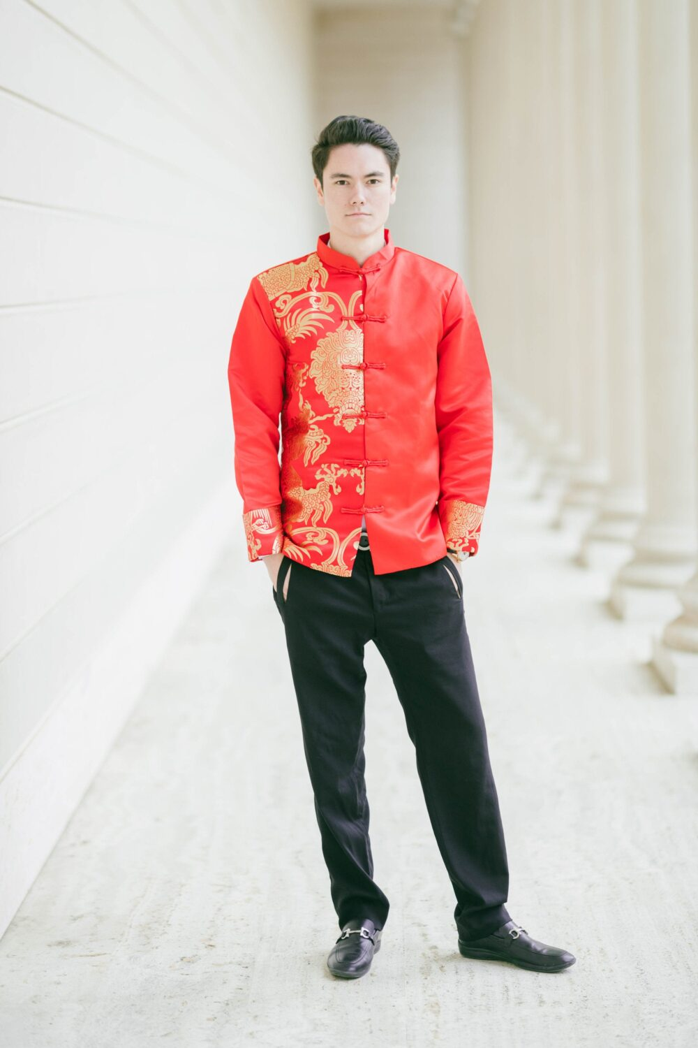 Chinese Changshan | Male Wedding Jacket Cheongsam