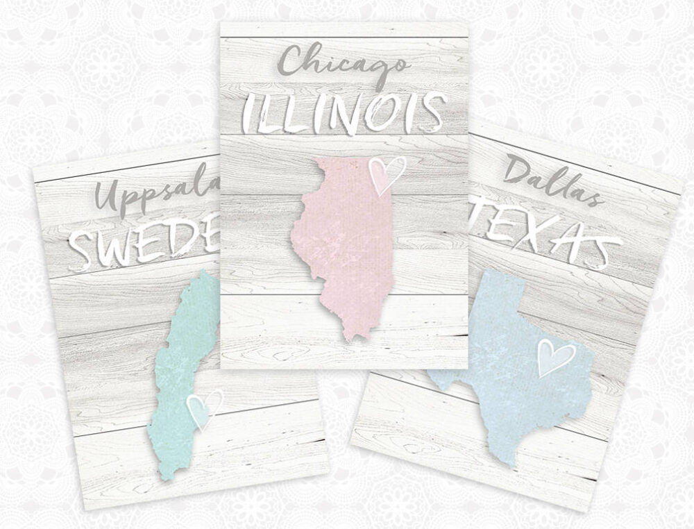 Wedding Table Seating Cards, Rustic Themed Country Numbers, Place Map Custom Numbers
