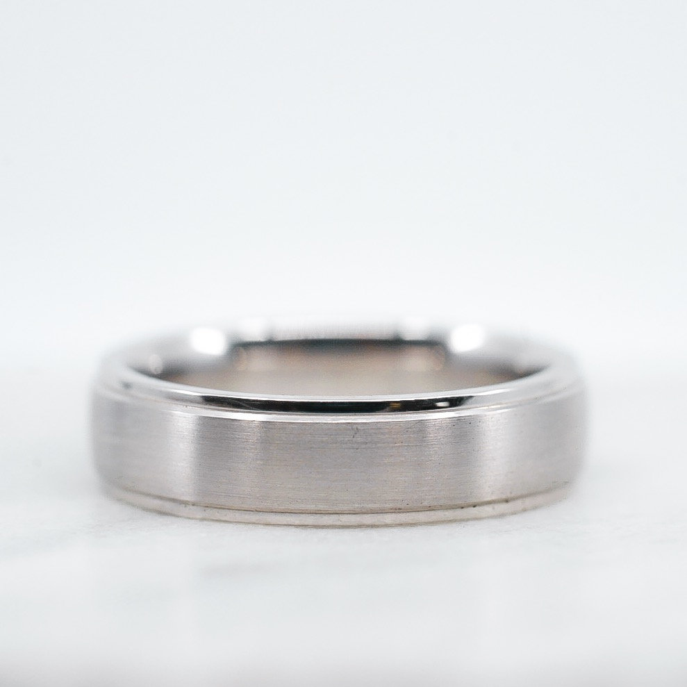 Men's Wedding Band 6mm Comfort Fit White Gold Or Yellow Rose Platinum