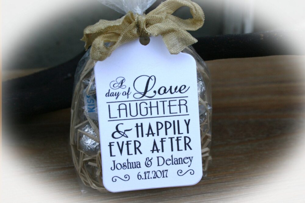 Wedding Favor Tag | Love Laughter & Happily Ever After Tags Kits |Engagement |Rehearsal Dinner