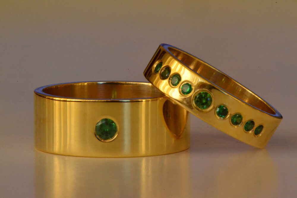 Emerald Engagement Ring, Ring Gold Band, Wedding Promise Band Engraved