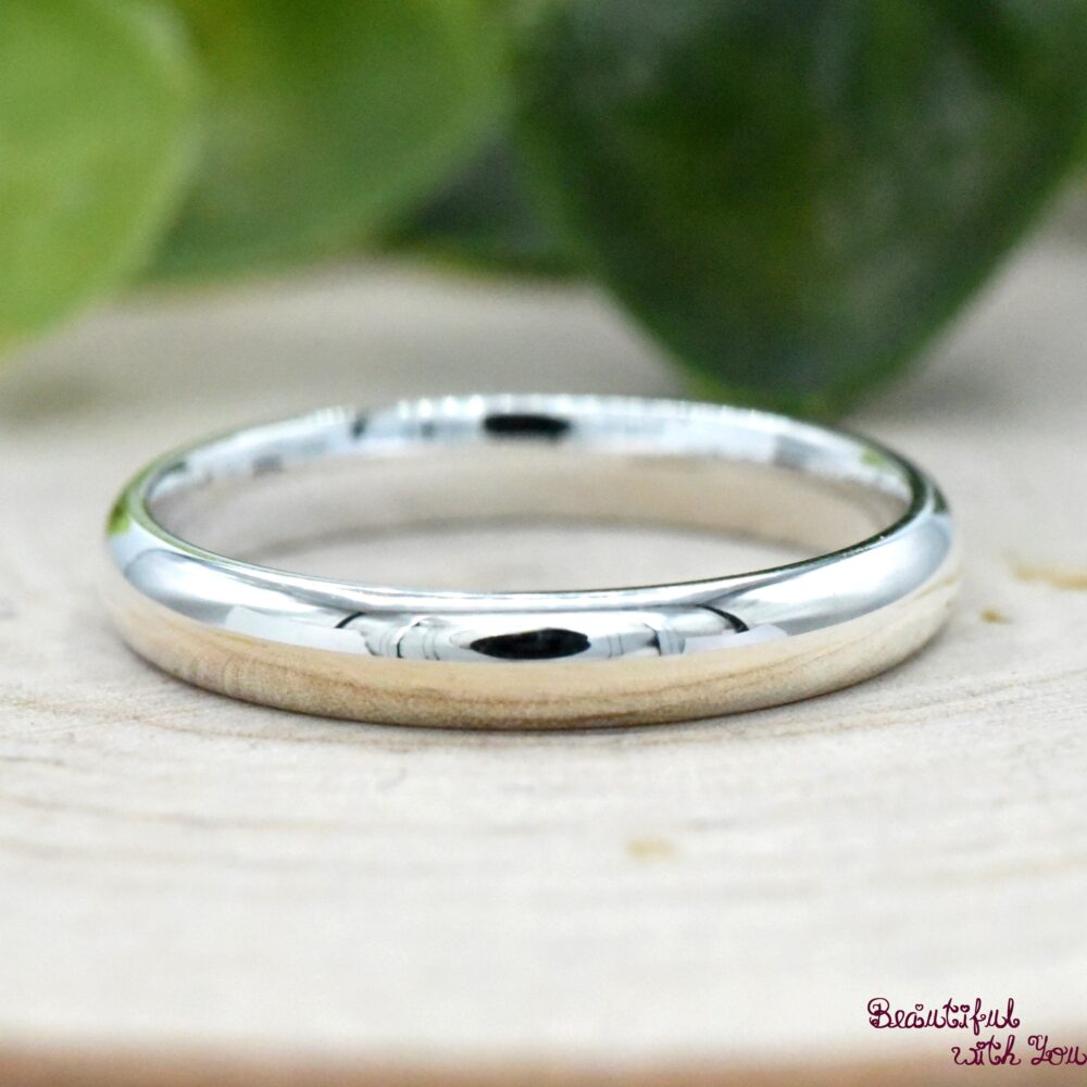 3mm Silver Thumb Ring, Womens Simple Wedding Band, 925 Sterling Minimalist Promise Ring For Her