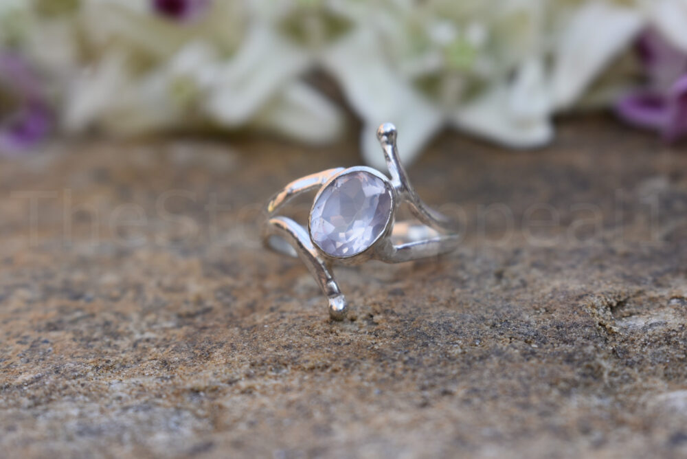 Topaz Ring, Sterling Silver Blue Stone Anniversary Gift For Sister, Ring Gift, Gemstone Christmas New Year