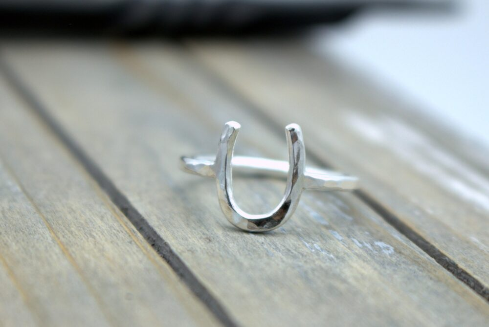 Silver Horseshoe Ring - Sterling Silver Gift For Her Midi Lucky Jewelry Sale