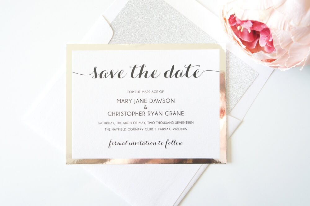 Change The Date Card, Elegant Save Dates, Wedding Cards, Dates - Deposit