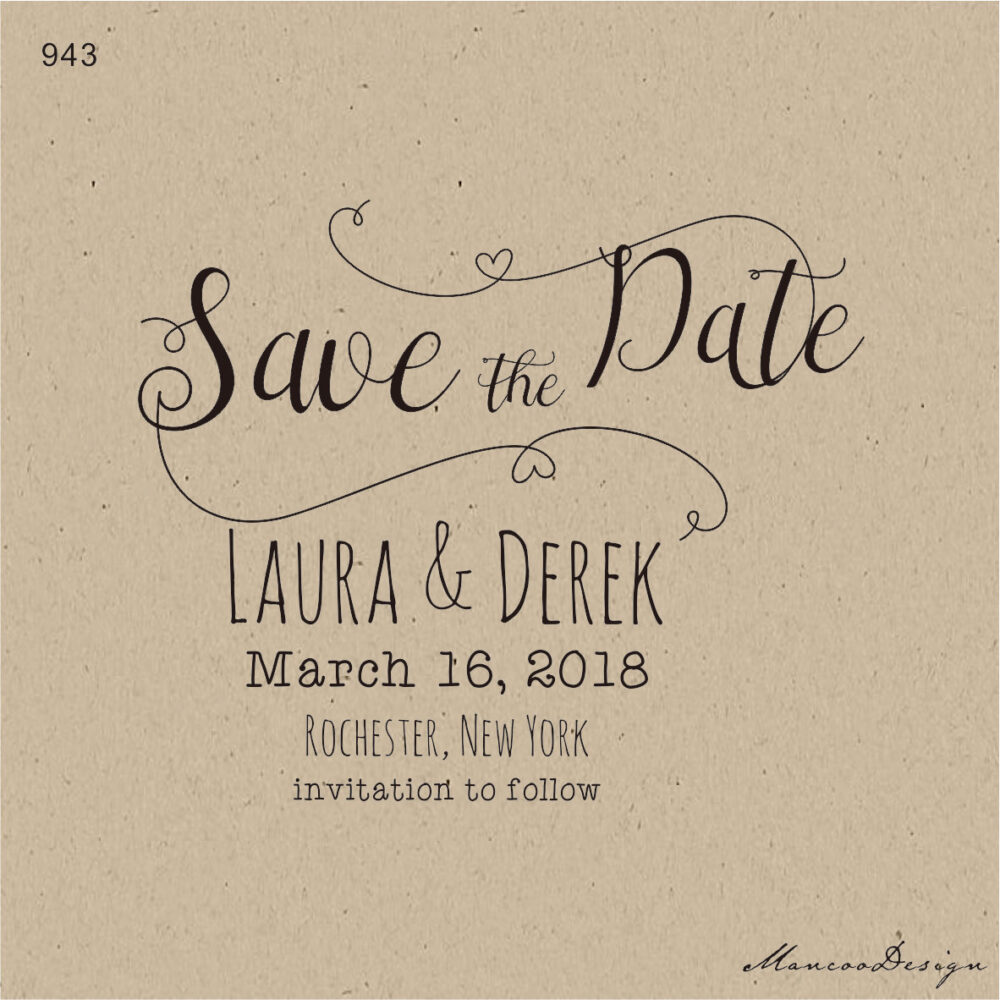 Customized Save The Date Wedding Favor Stamps - Heart -Elegant Save Date Personalized Rubber Stamp-Custom Stamp-Invitation Stamp