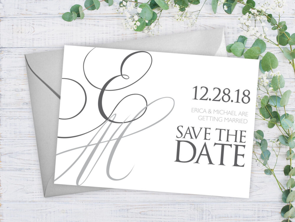 Wedding Save The Date, Elegant Dates, Date Announcement Card, Our Cards #satd-257