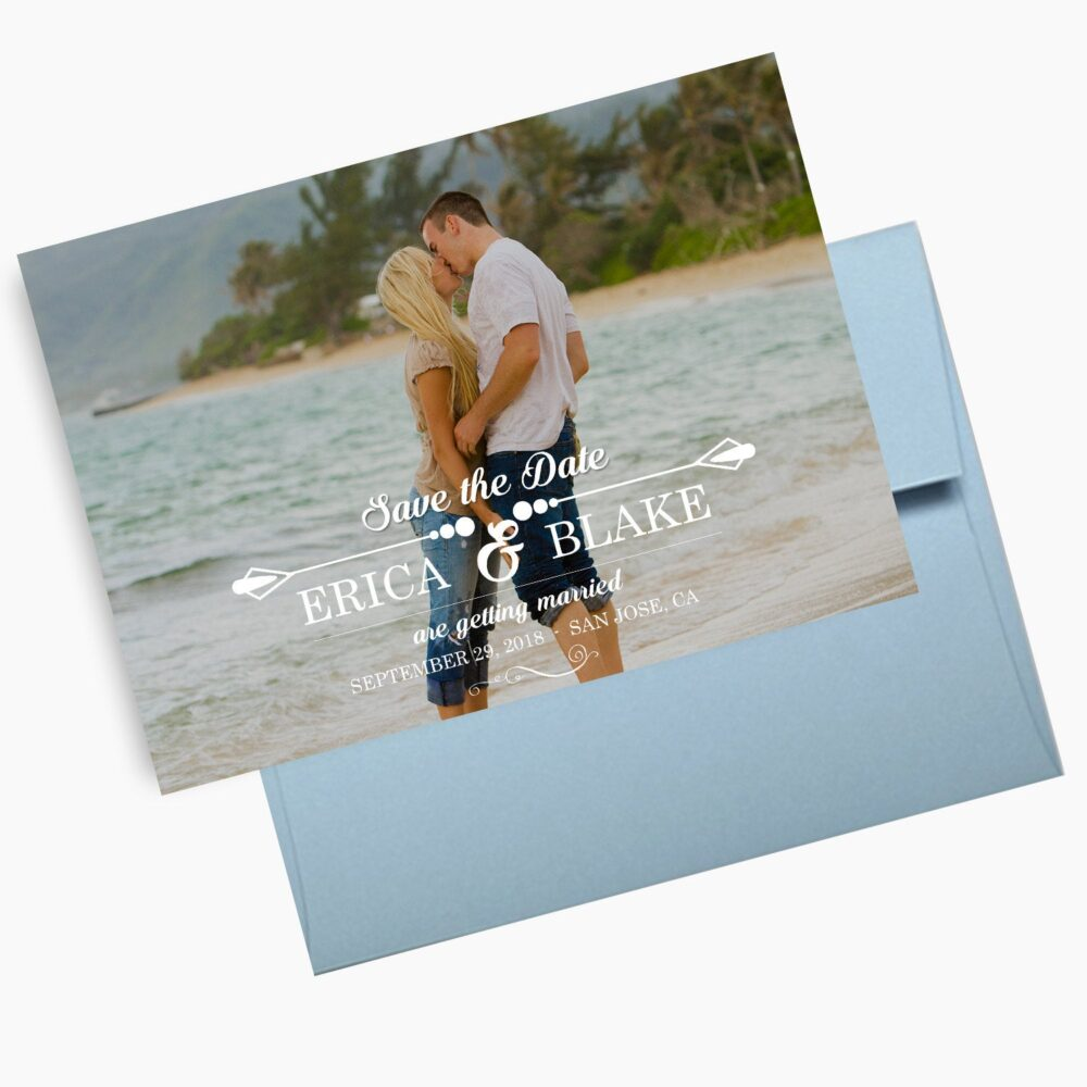 Photo Save The Dates, Beach Weddings Announcements, Single Postcards, Invites