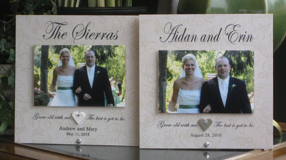 Couples Frame, Wedding Personalized Picture Custom Photo 4 X 6 Photo, Saying Choice